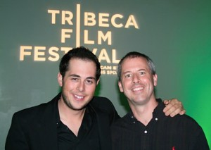 "Jason Potash, Producer at Storyboard Entertaiment with former teacher Kevin Walsh at 2010 Tribeca Film Festival for the award-winning short, ""Some Boys Don't Leave."""